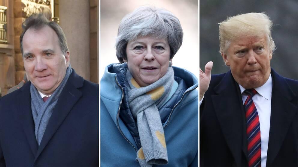 Stefan Löfven, Theresa May och Donald Trump kommer inte att närvara på toppmötet i Davos.