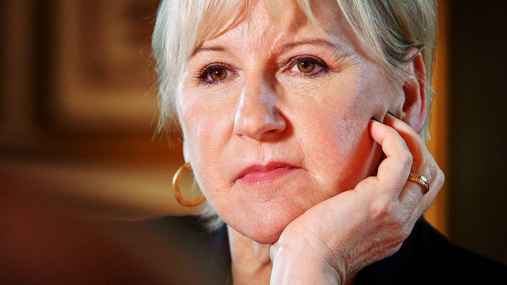 Margot Wallström på UD september 2018.