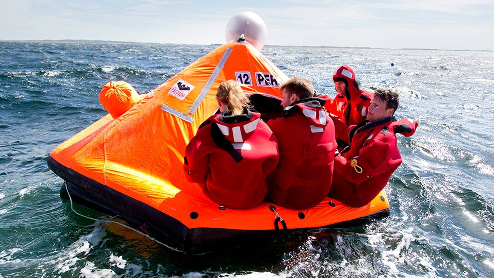 Räddningsflotte.