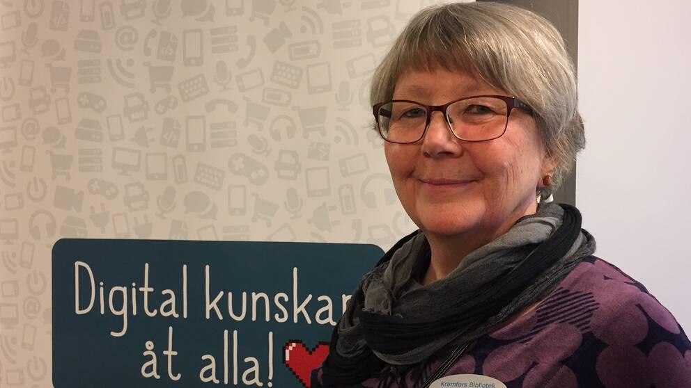 Ingrid Ohlsson, chef för biblioteket i Kramfors.