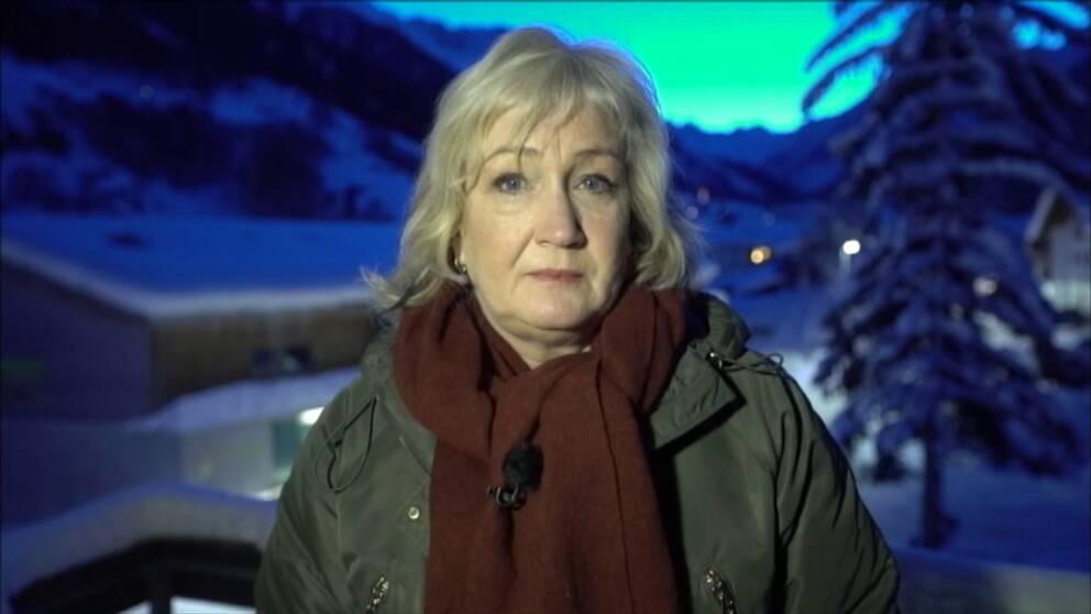 Erika Bjerström i Davos.
