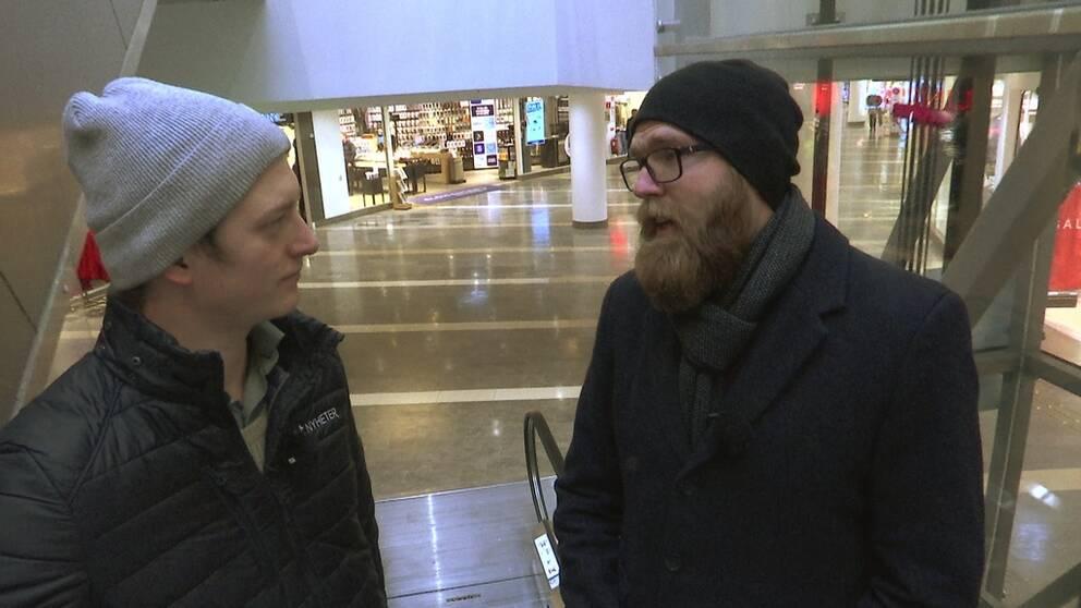 Eric Bergström tar med SVT Nyheter Halland till en galleria – en plats där människor kan uppleva social ångest.
