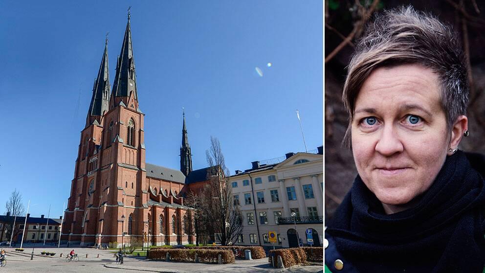 RFSL:s ordförande Ulrika Westerlund försvarar Svenska kyrkan.