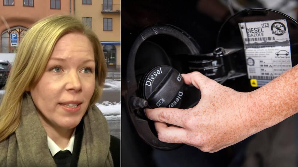 """""""Förbjuder man förbränningsmotorer, så förbjuder man bilar som kan köras på etanol eller biodiesel"""",säger Johanna Grant, ordförande för Gröna bilister."""