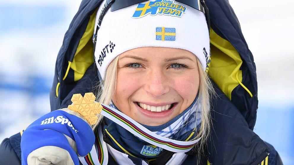 Frida Karlsson tog nytt JVM-guld