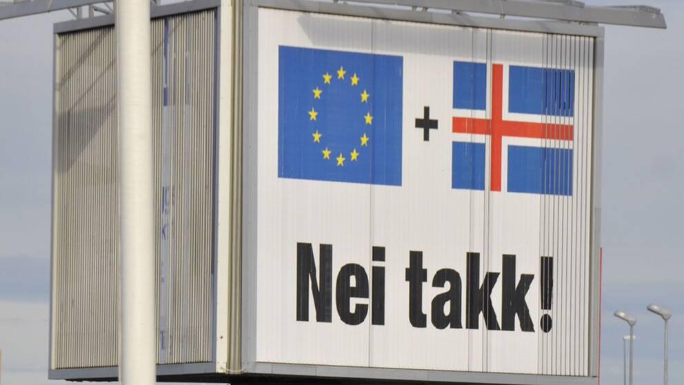Förhandlingarna om ett isländskt EU-medlemskap har avbrutits.