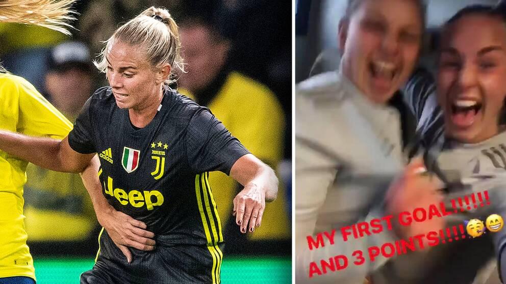 Petronella Ekroth har gjort sitt första mål för italienska storklubben Juventus.