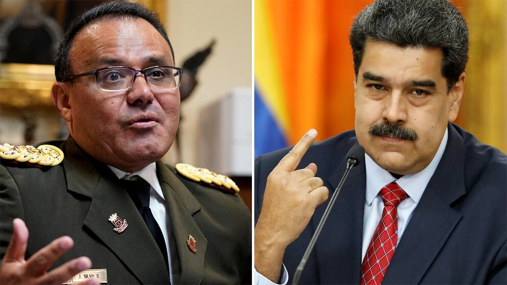Överste José Luis Silva och president Nicolas Maduro