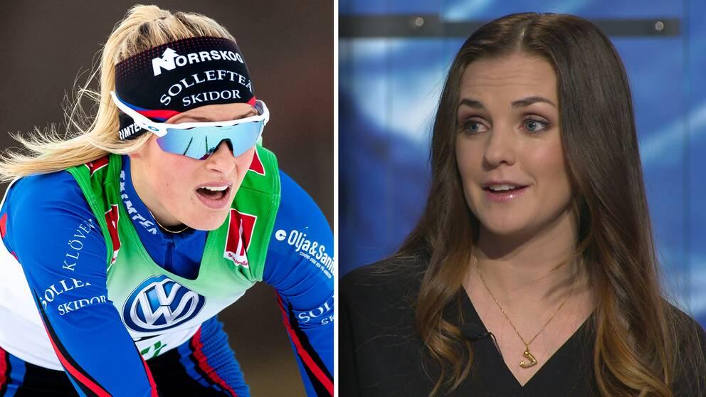 Supertalangen Frida Karlsson (vänster) och SVT:s expert Johanna Ojala (höger).