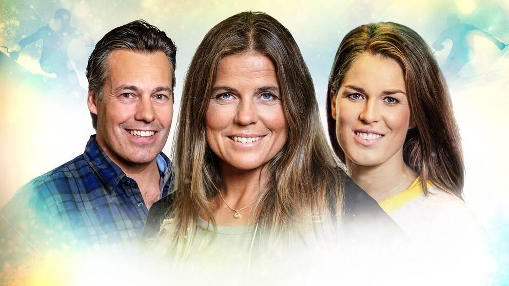 Tobias Hellman, Pernilla Wiberg och Maria Pietilä Holmner.