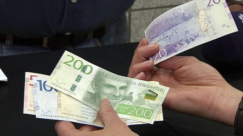 kontanter, pengar, sedlar, nya pengar