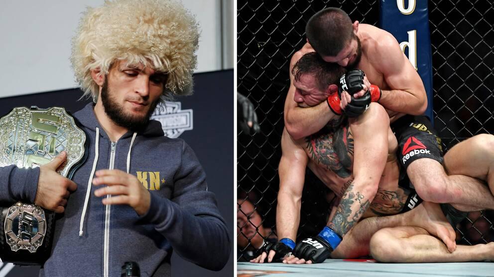 Khabib Nurmagomedov vann tidernas största MMA-match mot Conor McGregor via strypning.