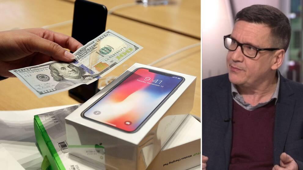 SvD-reportern Mikael Törnwall anser att Iphone-lurarna har blivit väldigt dyra