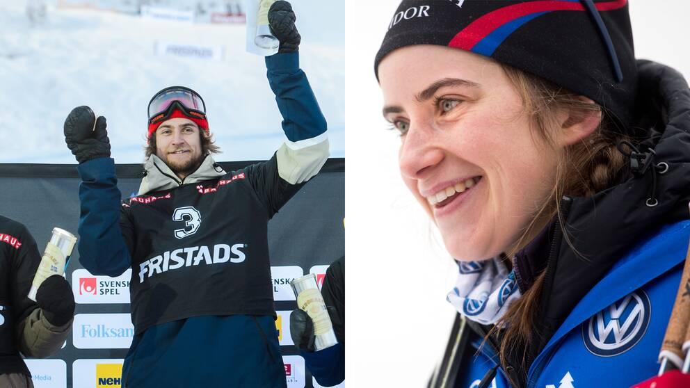 Måns Hedberg och Ebba Andersson.