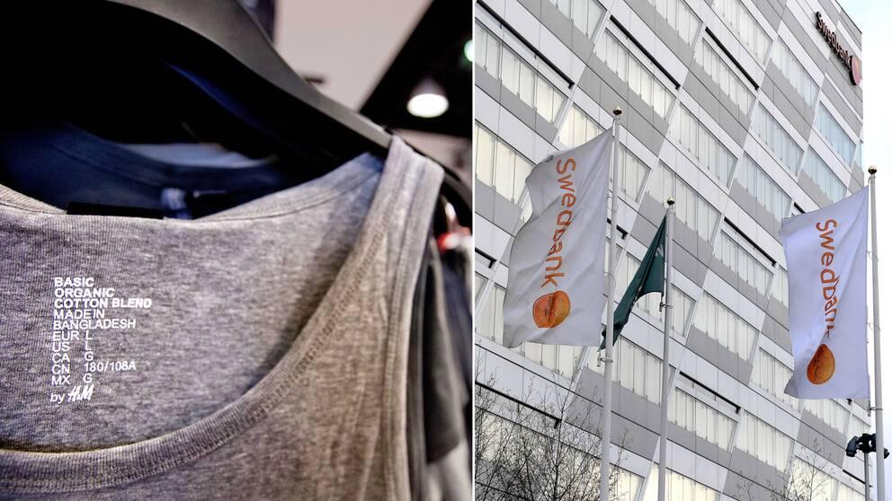 Ett H&M-plagg sytt i Bangladesh och Swedbanks högkvarter
