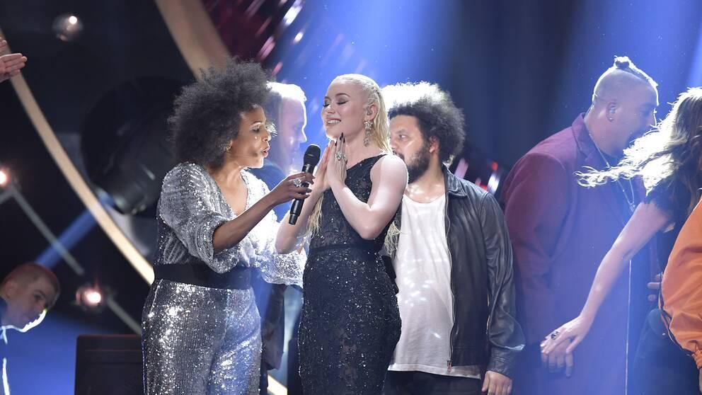 Wiktoria går vidare till finalen efter lördagens deltävling 1 i Melodifestivalen 2019 i Scandinavium.