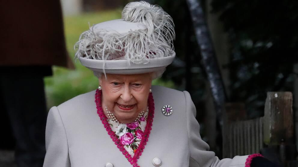 Storbritanniens drottning Elisabeth.