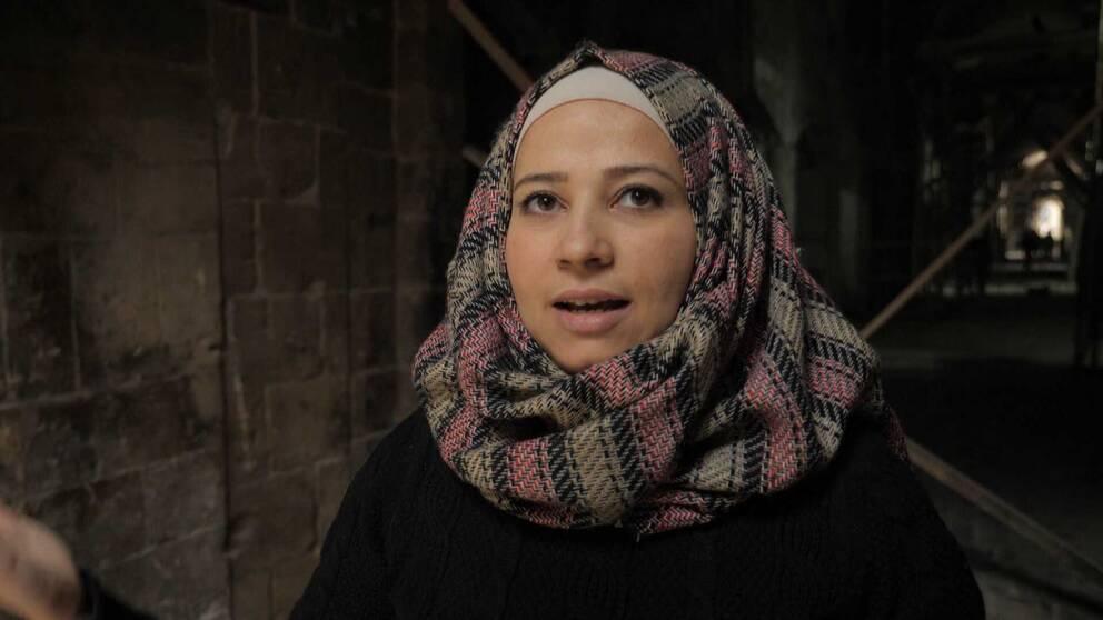 Ingenjören Lulua Charbotli i Aleppo.