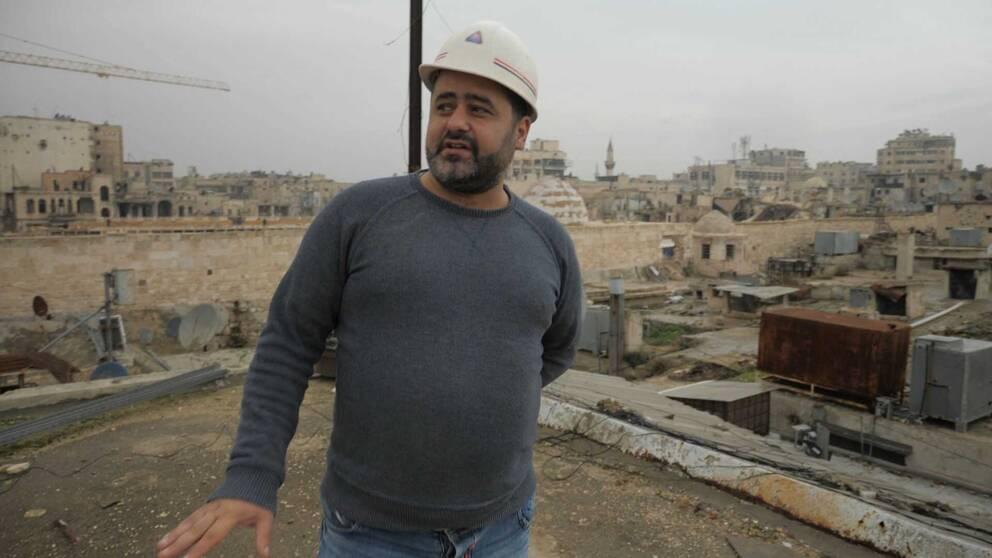 Arkitekten Basel Shohima i Aleppo.