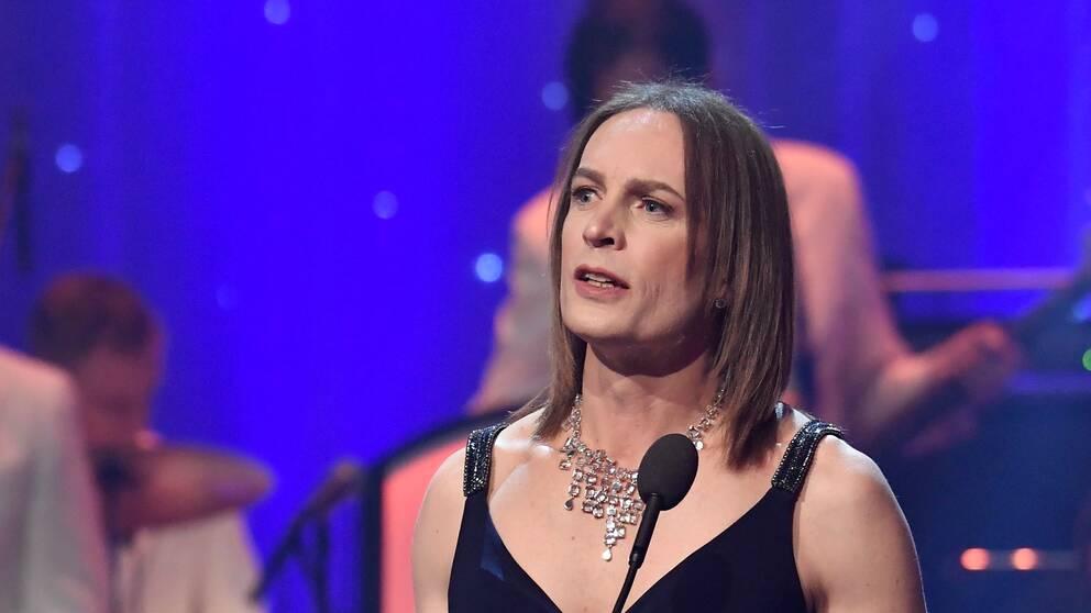 "ICA-toppen Caroline Farberger vinner pris i kategorin "" årets HBTQ-person"" på QX-galan på Cirkus."