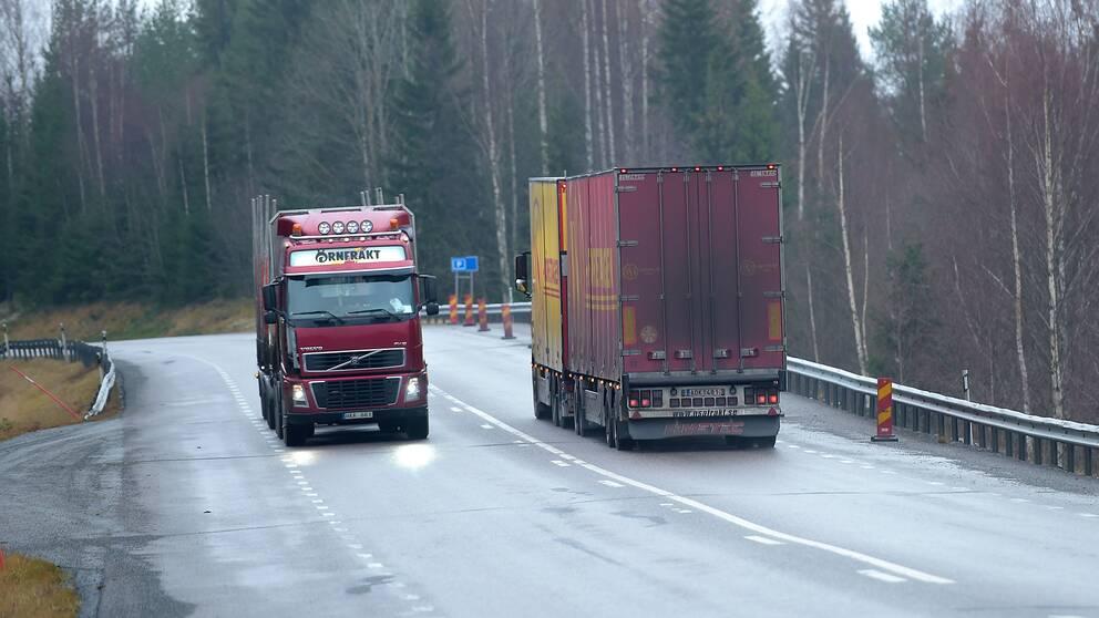 Lastbilstrafiken står för en stor del av utsläppen
