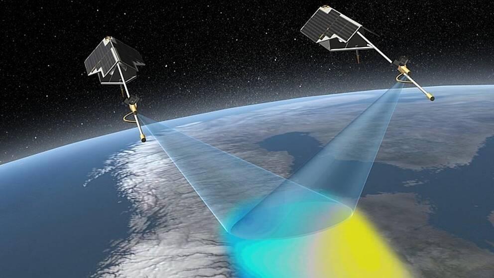 Jordens magnetfält mäts av den europeiska rymdorganisationen ESA med satelliter utrustade med magnetometrar och stjärnkompasser i omlopp runt jorden.