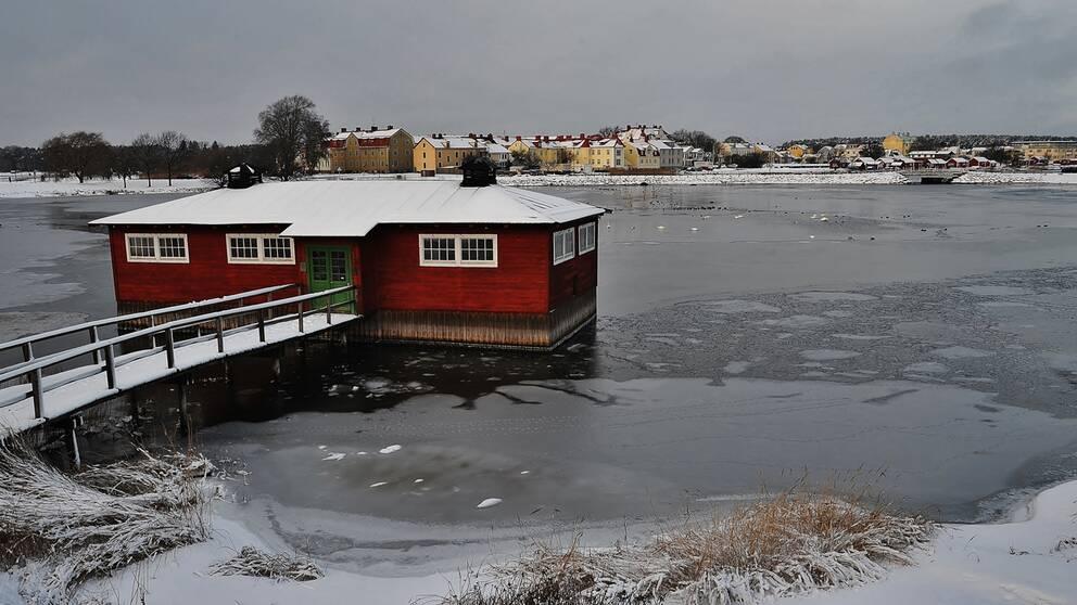 Kylig kväll i Kalmar.