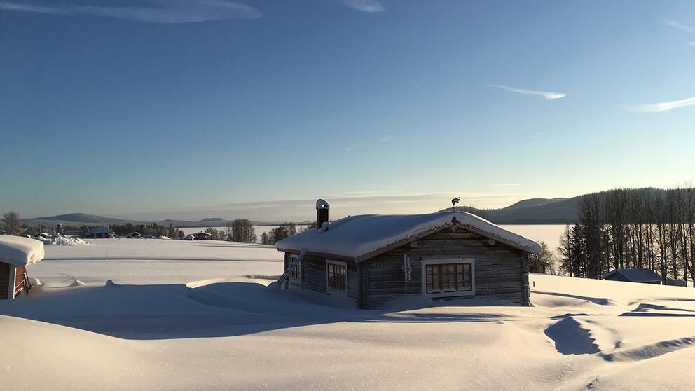 Inte bara snöoväder i Lappland.