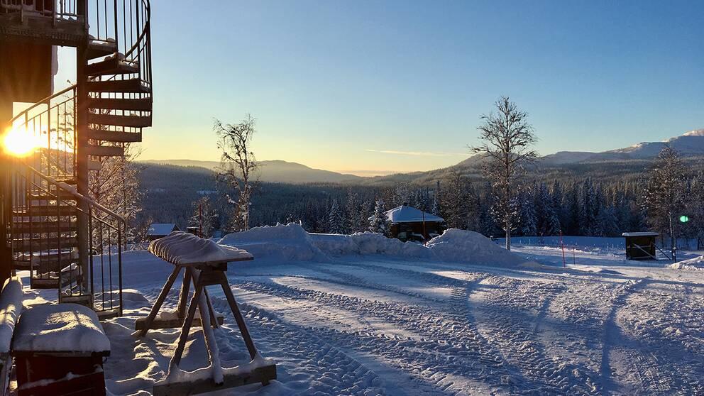 Fröå gruva i Jämtland den 4 januari -15 lite snårig blåst.