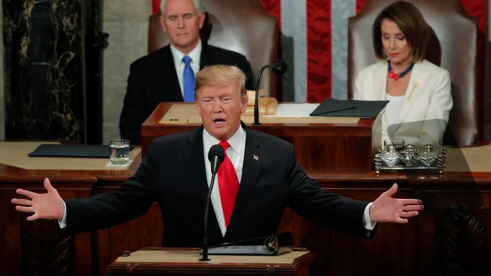 Donald Trump under sitt state of the union-tal.
