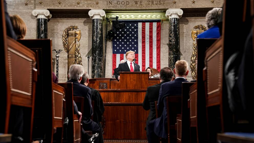 Donald Trump under sitt state of the union-tal.