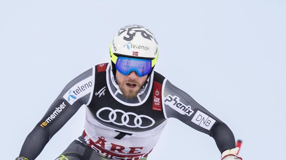 Kjetil Jansrud under super-G-loppet i Åre.