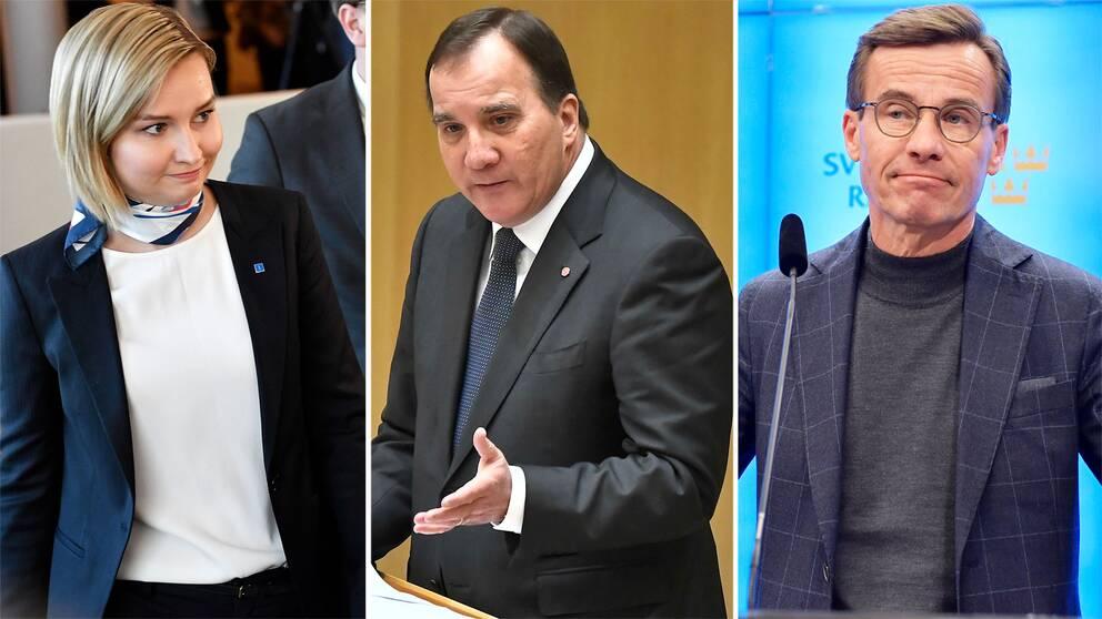 Ebba Busch Thor, Stefan Löfven och Ulf Kristersson