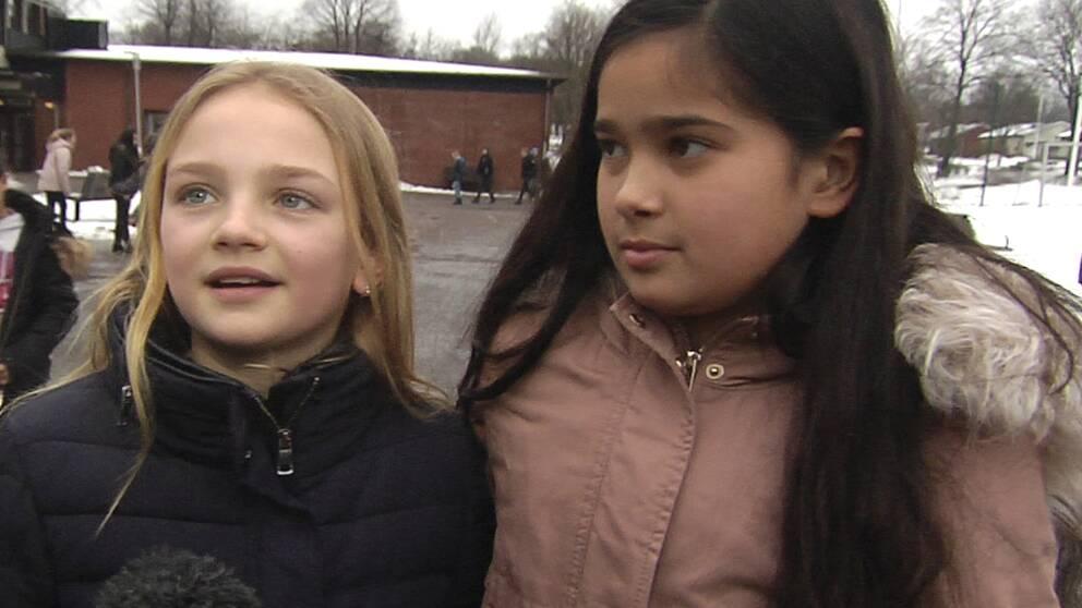 Mollie Mathiasson och Amelia Bengtsson