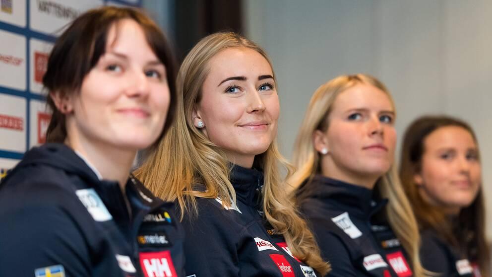 Från vänster: Ida Dannewitz, Lin Ivarsson, Lisa Hörnblad och Helena Rapaport.