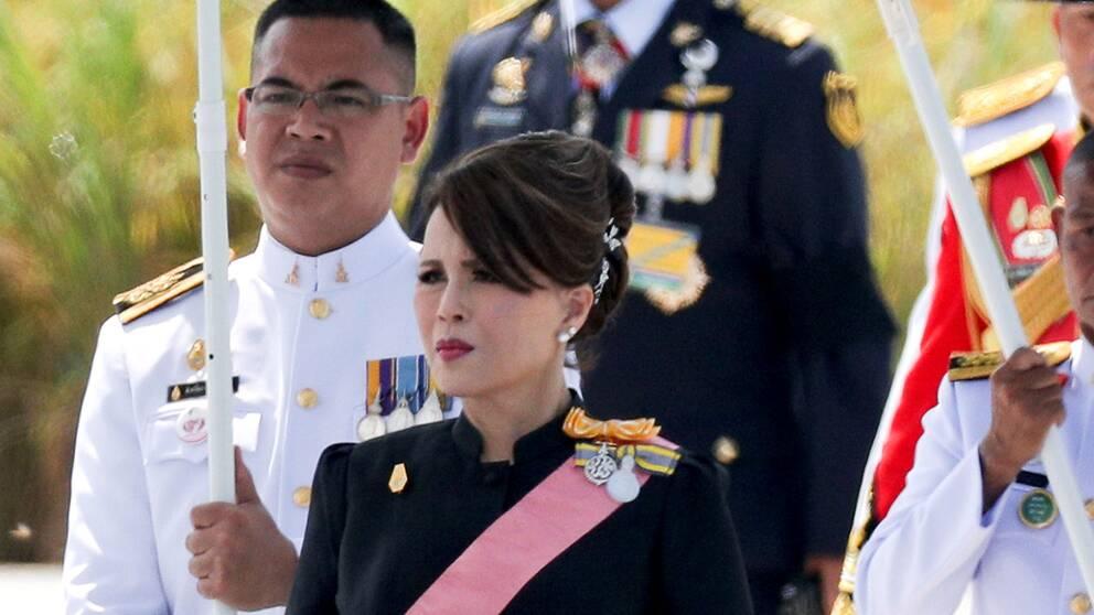 Prinsessan Ubolratana vid ett framträdande i Bangkok 2017