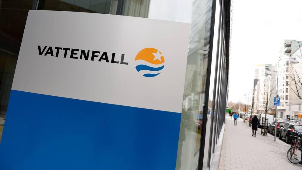 En Vattenfall-skylt