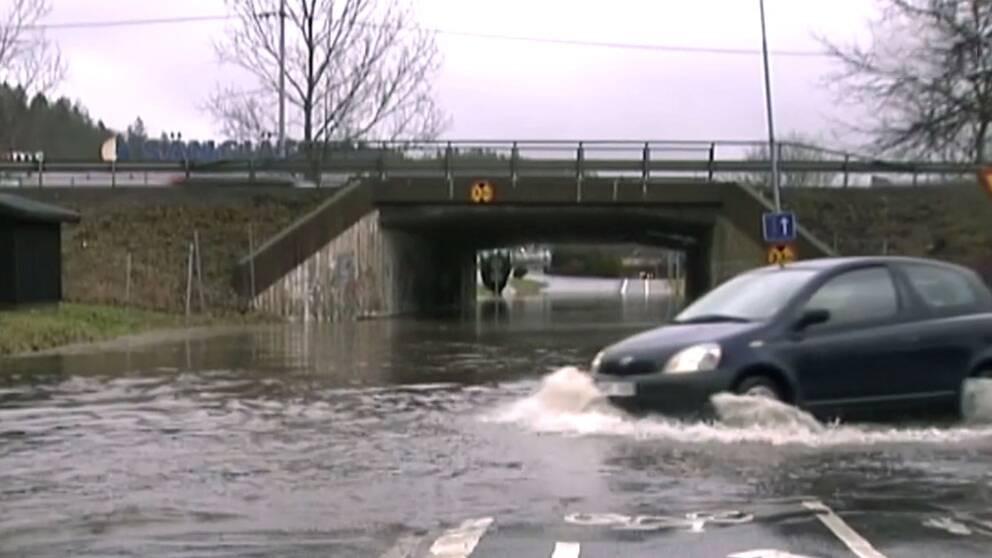 Översvämning i Kållered