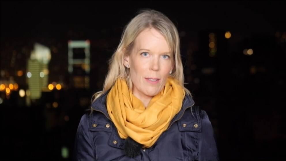 Stina Blomgren, SVT:s Mellanösternkorrespondent.