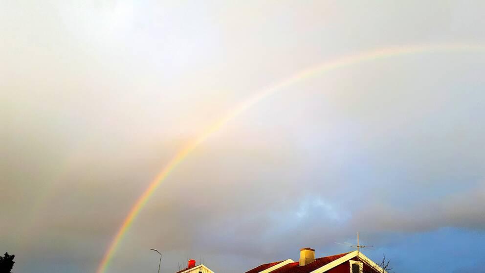 9 Februari Mariestad. En regnskur på eftermiddagen resulterade i en fin regnbåge.