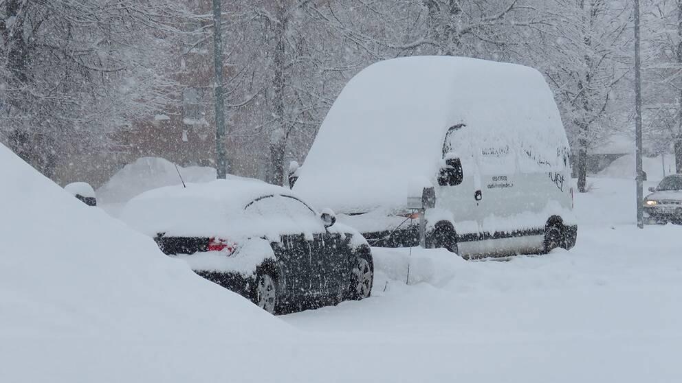 Mycket ihållande snöfall i Umeå, 8-10 februari