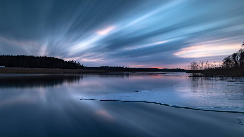 Sjön Ärlången utanför Sturefors, Östergötland 10 februari 2019.