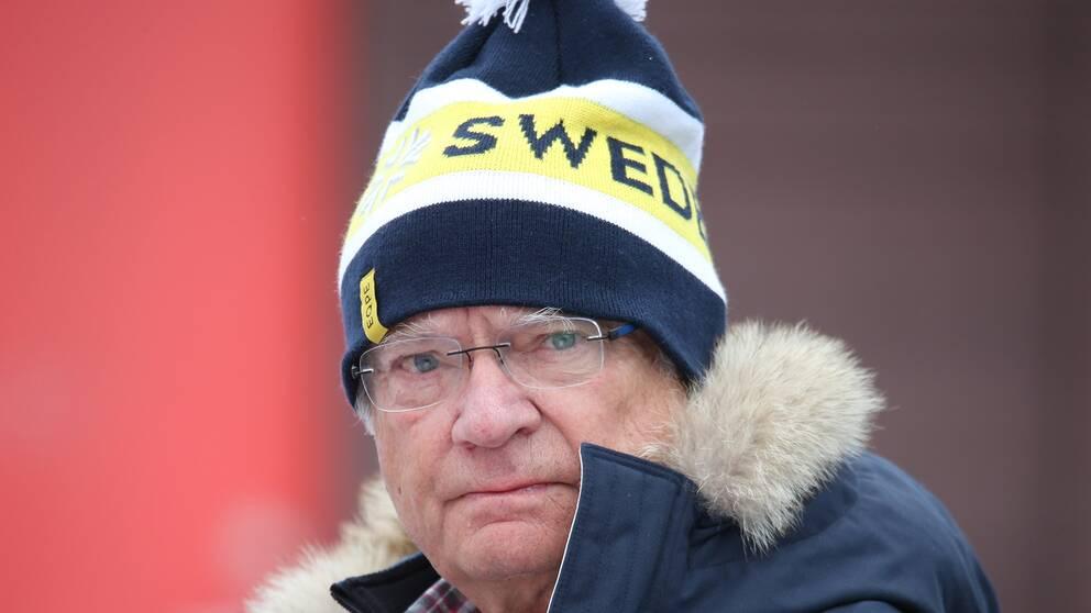 Kung Carl XVI Gustaf är på plats i Åre.