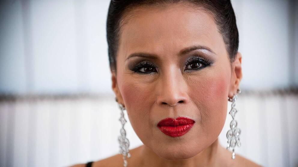 Thailändska före detta prinsessan Ubolratana Rajakanya på filmfestivalen i Cannes.