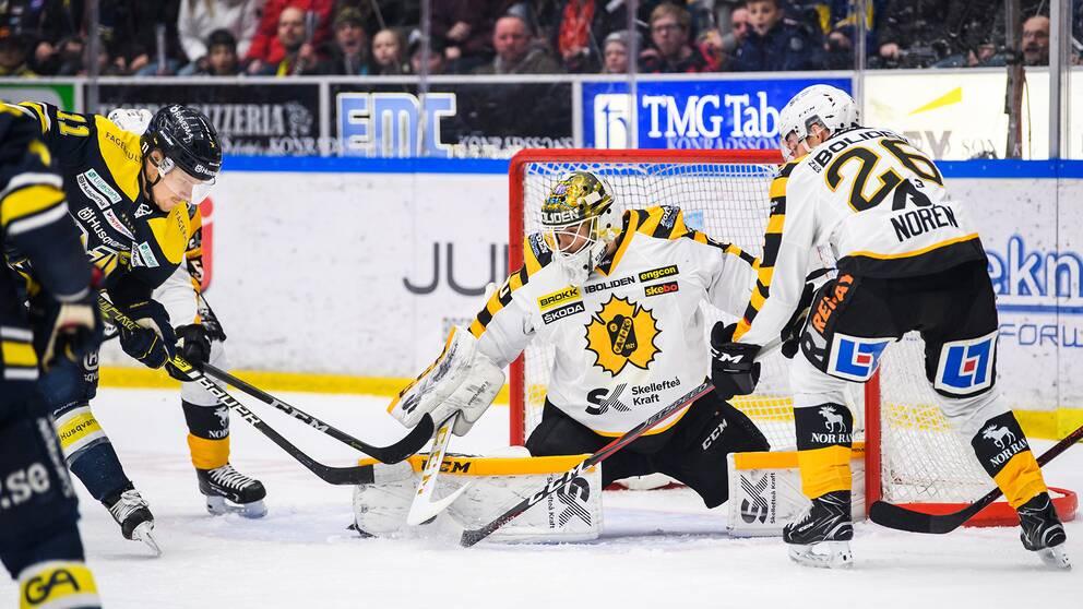 Mantas Armalis räddar ett skott mot HV71