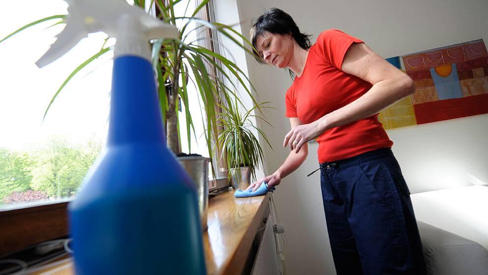 Susanne Moffat på HomeMaid, ett företag som utför hushållsnära tjänster åt privatpersoner.