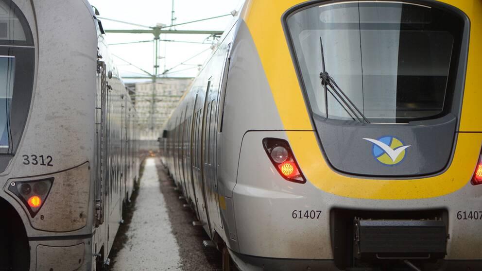 Tåg. Västtrafik.