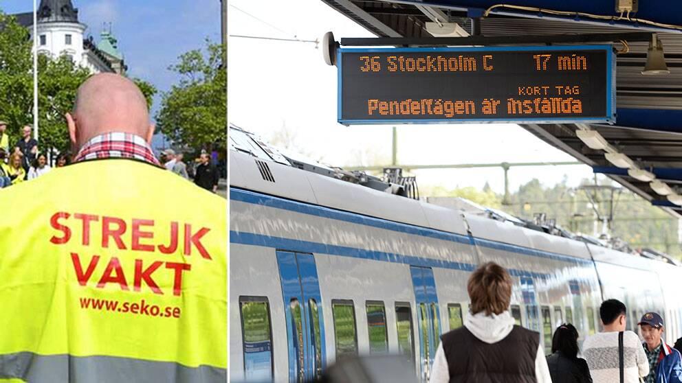 Almega svarar på senaste strejkvarslet från Seko i tågkonflikten – strejken utökas och omfattar nu pendeltågen. Omkring 374.000 resenärer kan komma att beröras.