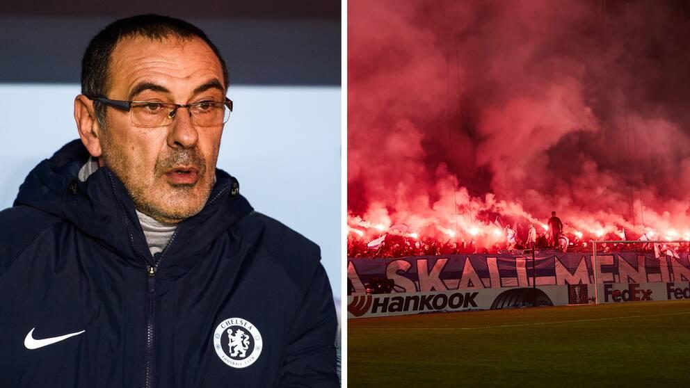 Chelseas tränare Maurizio Sarri hyllar publiktrycket i Malmö.