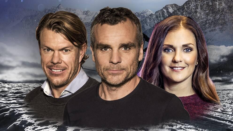 Mathias Fredriksson, Anders Blomquist och Johanna Ojala.